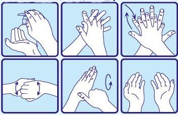 Hygi ne protect gel hydro alcoolique couleur soleil - Coloriage lavage des mains ...